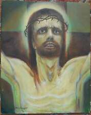 Bill Sawyer (born 1936) Oil on Canvas Panel, Father Forgive Them 16 x 20, LYZON