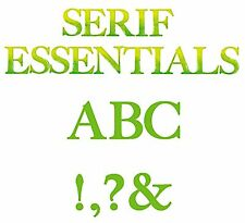 Sizzix Bigz Serif Essentials Alphabet set #655128 MSRP $149.99 designer EL Smith