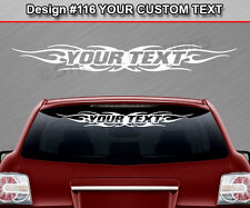 #116 PERSONALIZED Text Custom Name Windshield Decal Graphic Sticker Tribal Flame