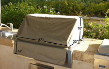 "Outdoor Patio Built In/Drop In BBQ Island Gas Grill  Cover 33""L x30""Dx 16""H .New"