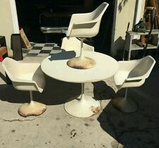 Vintage Saarinen Chair Burke Fiberglass Shells Set of Four Tulip Eames Knoll