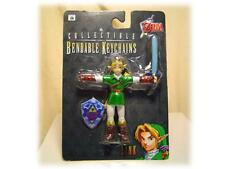 1998 LEGEND OF ZELDA OCARINA OF TIME LINK BENDABLE KEYCHAIN Action FIGURE
