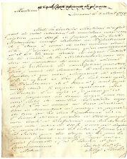 Lettera Autografo Console Stati Uniti America Filippo Filicchi da Livorno 1813