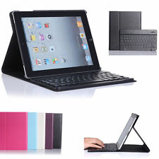 For Apple iPad 2 3 4 Gen Black Stand Leather Case Cover With Bluetooth Keyboard