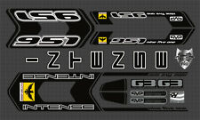INTENSE 951 FRO CUSTOM MADE FRAME DECAL SET