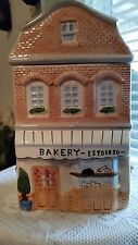 """Two Story Colorful Ceramic """"Bakery ESTD 1950"""" Cookie Treat Or Biscuit Jar 9.5"""""""