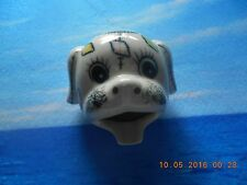"""Vtg Patchwork Puppy Face Ashtray - 6379 - 2 1/2"""" Tall - Very CuteZAx"""