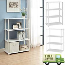 Storage Shelf 6 Cube Bookcase Rack Organizer Wood Home Bookshelf 4 Shelves White