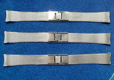KREISLER 18MM MESH TAPERS TO 14MM STAINLESS STEEL SNAP CLASP L= 6.5/8' NOS USA