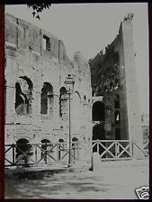 Glass Magic Lantern Slide SECTION OF THE COLOSSEUM ROME C1900 ROMA ITALY