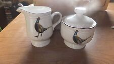 Stanhome exclusive pheasant china Korea sugar bowl with lid and creamer