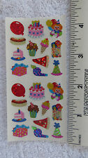 Sandylion PARTY FOOD & FAVORS Strip of 2 Sqs RETIRED MINI Stickers RARE
