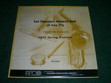 East Elementary Advanced Band of Iowa City 1975 Spring Concert~Paul McNally
