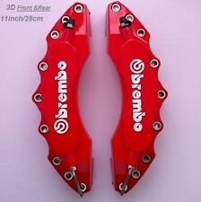 Red Brembo Brake Caliper Covers 2pcs Set Front Universal Car Truck 3D Disc 11""