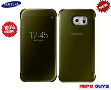 Samsung Galaxy S6 EF-ZG920B Original CLEAR View Flip Case Cover GOLD