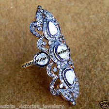 Victorian Vintage 2.70cts Rose Antique Cut Diamond Sterling Silver Ring Jewelry