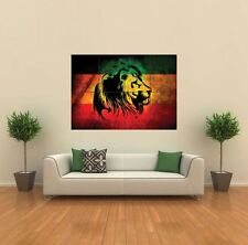 RASTA LION REGGAE STYLE NEW GIANT POSTER WALL ART PRINT PICTURE G465
