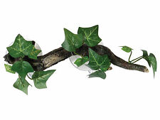 Sucker Mounted Branch with Flora Reptile Terrarium Vivarium Ornament Decoration