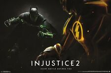 INJUSTICE 2 - BATMAN & FLASH - VIDEO GAME POSTER 22x34 - DC COMICS 15173