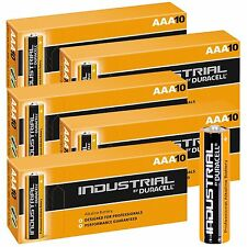 50 x DURACELL INDUSTRIAL AAA ALKALINE BATTERIES LR04 MN2400 EXP 2021