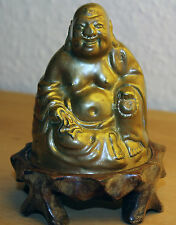 China Hotai Buddha, Bronze carved old chinese 20. Jh.  Japan Figur Carving Budai