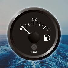 """VDO Viewline Fuel Level Marine Gauge Boat 52mm 2"""" 12/24V Black A2C59514079"""