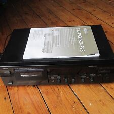 YAMAHA KX-393 Hi-Fi Cassette Tape Deck Dolby B C KX Pro Play Trim w Manual VGC