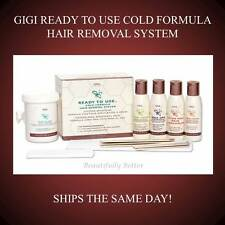 GIGI READY TO USE COLD FORMULA HAIR WAXING REMOVAL SYSTEM WATER SOLUBLE KIT 0130