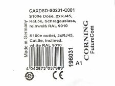Corning CAXDSD-S0201-C001 S100e 2 Port Junction Box, White, Cat5e  w/ 2ea RJ45