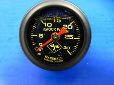 "Marshall Gauge 0-30 psi Fuel Pressure Oil Pressure 1.5"" Midnight Black Liquid"