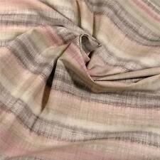 Classy, Softly Muted Pink Green & Brown Ombre Stripe, Cotton Fabric by Kaufman