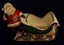 Duncan Enterprises 1981 Santa Clause And Sleigh Planter or Candy Dish