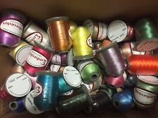 Lot of 48 LARGE Spools (1100 yards each) Polyester Embroidery Machine Thread