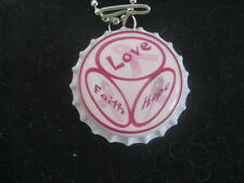 Breast Cancer Awareness Bottle Cap Necklace ~ **Gift Idea