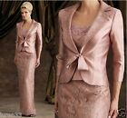 Mother Of The Bride Formal Occasion Mum Dress Women Outfit/Suit With Free jacket