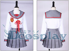 Seraph of theend Mahiru Hiragi Cosplay Costume Gray White School Uniform