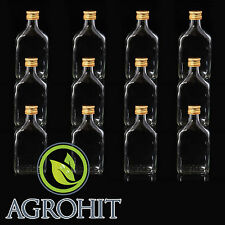 Glasflaschen-Likörflaschen 10 x Schnapsflaschen TASCHE 0,2 l mit Deckel 10 St