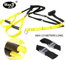 MaxGym® Suspension Body trainer. Crossfit body trainer MMA power straps yellow1