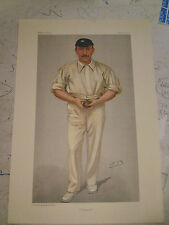 VANITY FAIR PRINT CRICKET YORKSHIRE GEORGE HIRST SPOONER UK POSTAGE