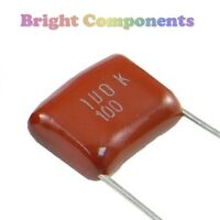 10 x 0.1uF / 100nF (104) Polyester Film Capacitor - 100V (max) - 1st CLASS POST
