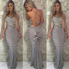 @@Women Sexy Summer Dress Maxi Long Evening Party Dress Beach Dress Sundress L