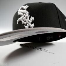 New Era 59Fifty Black White SOX 5950 Fitted AMERICAN EAGLE Hat MLB Baseball Cap