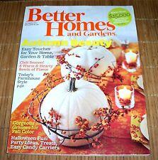 Better Homes and Gardens Magazine October 2011 Fall Autumn Halloween Pumpkins