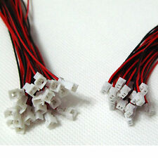 20 SETS Micro JST 1.25 2-Pin Male&Female Connector plug with Wires Cables