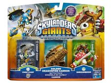 BNiB SKYLANDERS GIANTS SWAP FORCE BATTLE PACK SHROOMBOOM CHOP CHOP DRAGON CANNON
