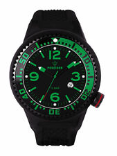OROLOGIO UOMO KIENZLE POSEIDON,CASSA XL 52mm,15 BAR,VEREDE,NERO,DIVER,MAN WATCH
