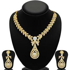 Sukkhi Stylish Gold Plated AD Necklace Sets for Women(2166NADL1400)