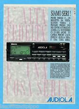 QUATTROR990-PUBBLICITA'/ADVERTISING-1990- AUDIOLA AUTORADIO CS 133 RDS