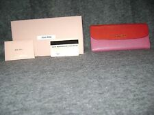Miu Miu by Prada Long wallet bicolor Red/Pink Stunning cond.