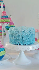 Aqua Ombre Rosette Fake Cake Photo Prop or Birthday Party Decorations Displays